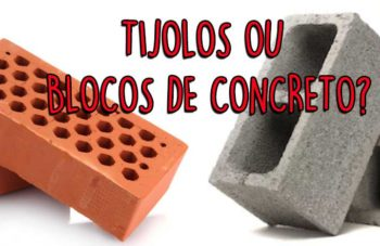 Qual é melhor para a obra: tijolo ou bloco de concreto?